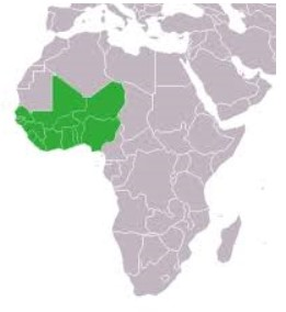 Countries member of the ECOWAS