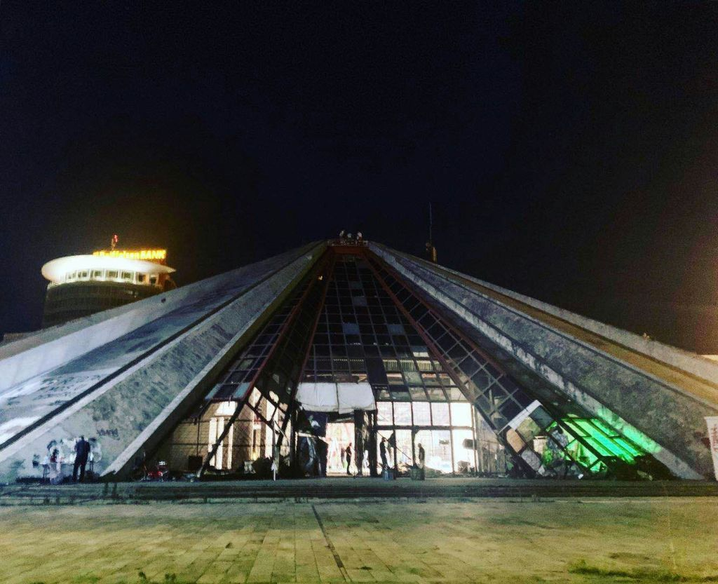 The Tirana Pyramid – Young Pioneer Tours