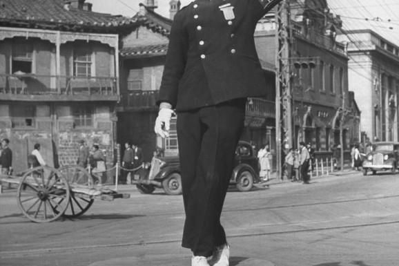 photo of korea before the war: Pyongyang Traffic Cop