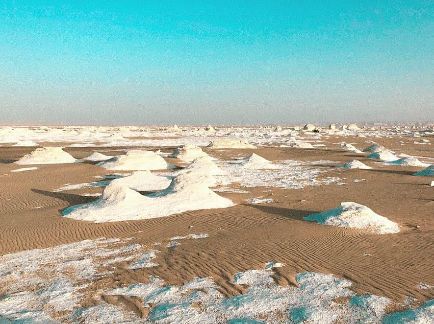 The White Desert of western Egypt.