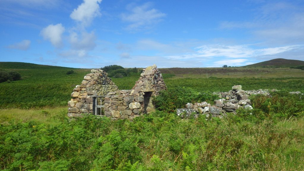 Worst islands: the remains of a stone cottage on Gruinard Island, AKA 'Anthrax Island', Scotland