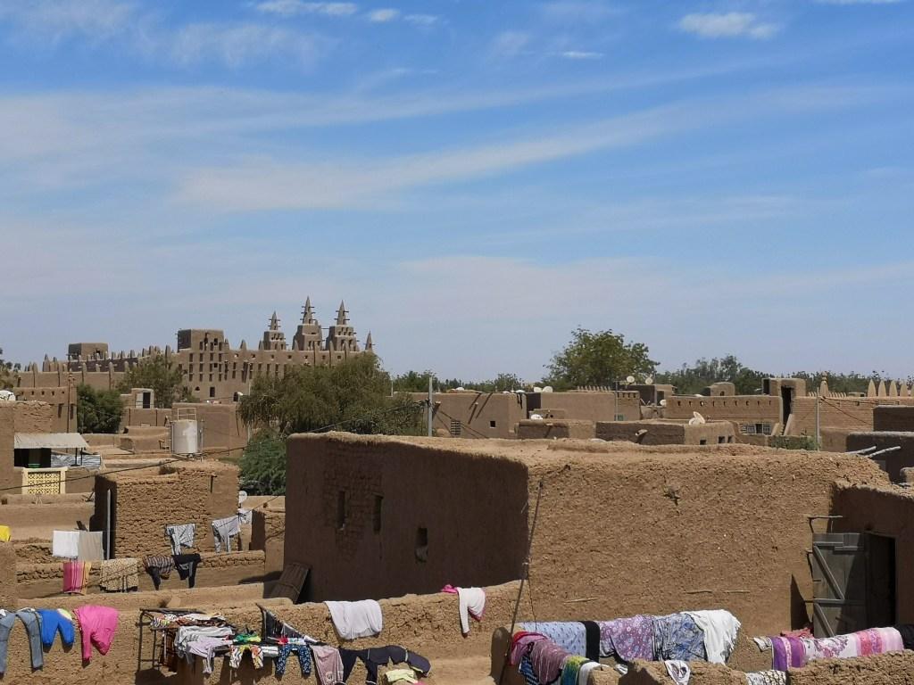 rooftops of Djenné, Mali