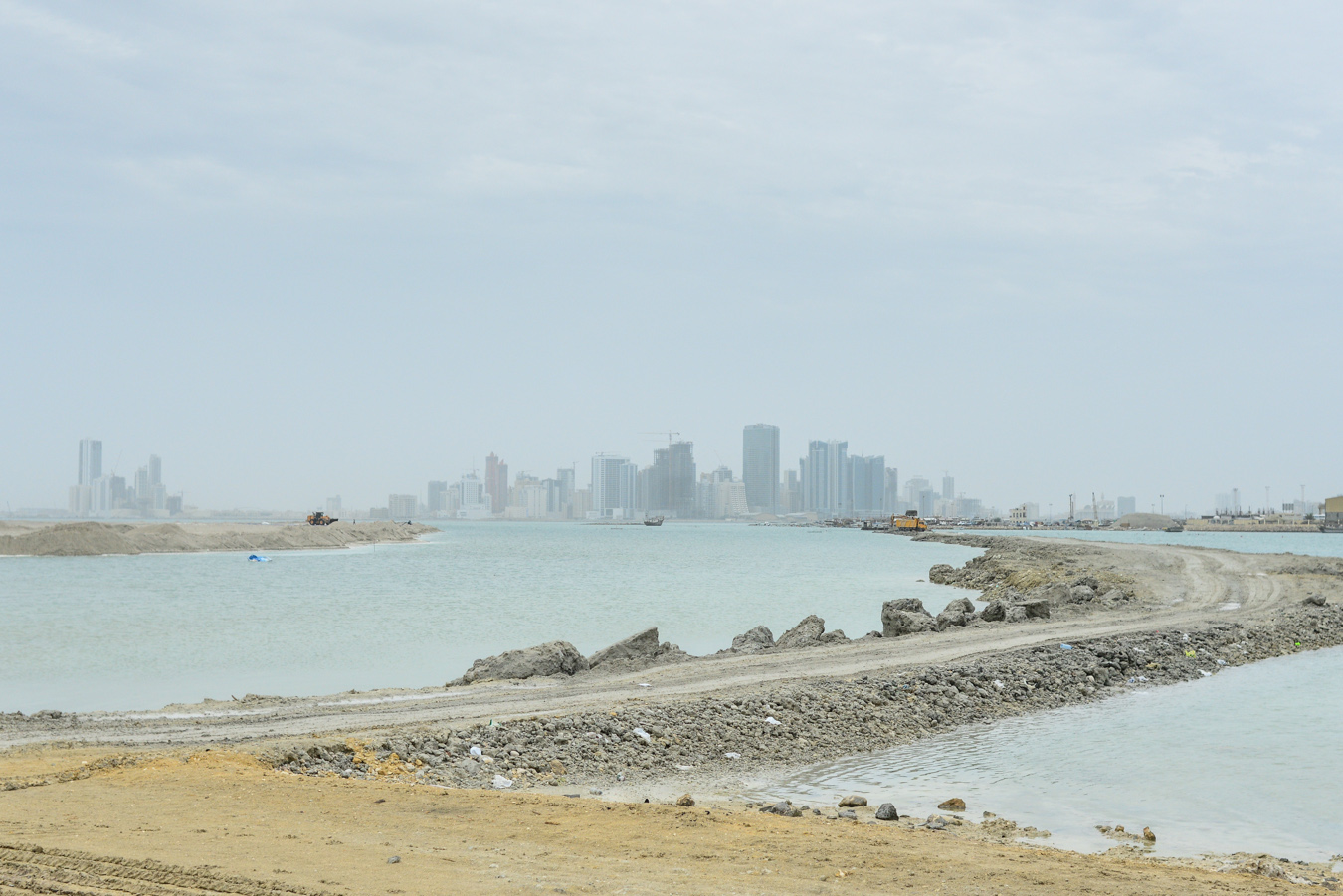 View of the sea surrounding Bahrain