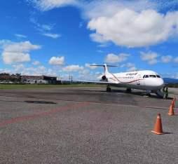 Air Niugini's plane landed in Honiara, Solomon Island