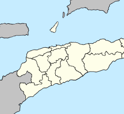 Map of East Timor (including Oecusse exclave)