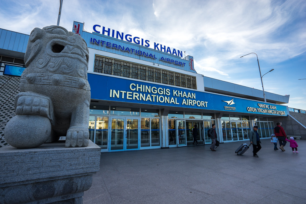 Chinggis Khaan International Airport at Ulaanbaatar.