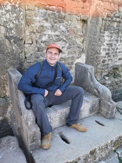 The latrines of Timgad
