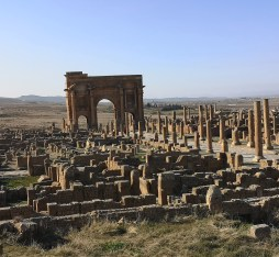 The Arch of Trajan found in Timgad Algeria