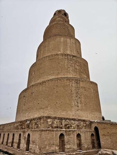 The minarest of the Great Mosque of Samarra is one of the world's oldest mosque and an important religious site of Islam