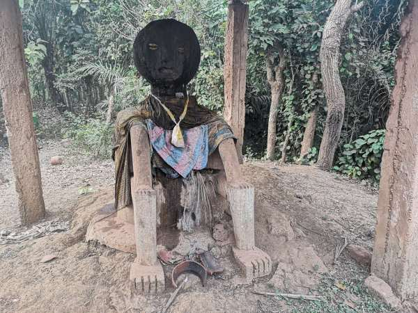 A douleba, the voodoo guardian of the village