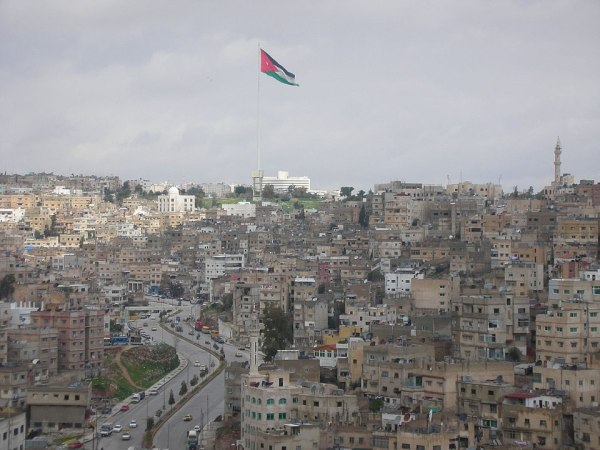 The tallest flagpole in Amman, Jordan