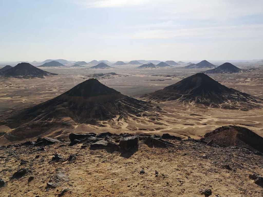 The black desert of Egypt