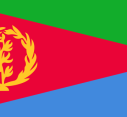 The current flag of Eritrea