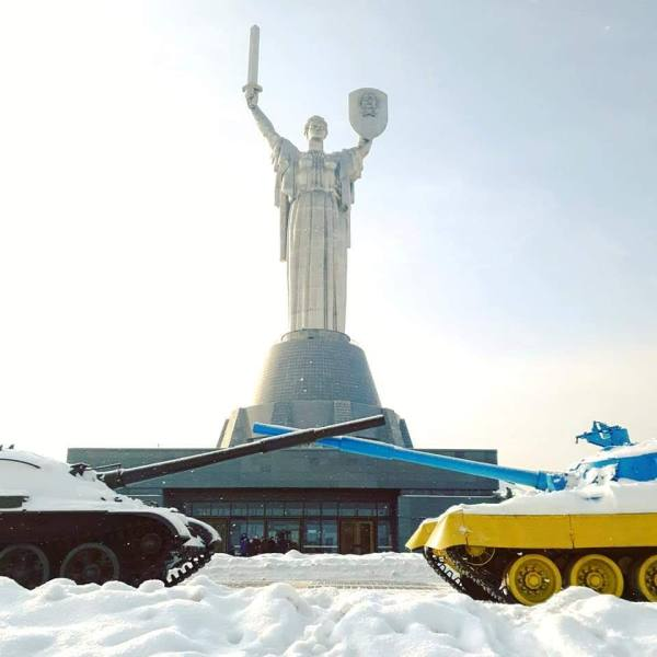 The Motherland Statue or Rodina Mat is a landmark of Kyiv - The City of Domes