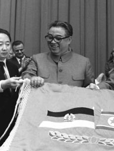 Kim Il-sung, eternal president of North Korea and president of the DPRK