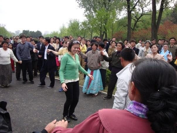 Dance on Mansu Hill as part of YPT's first tour to North Korea
