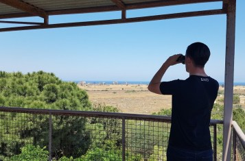 Enjoying the view of Cyprus