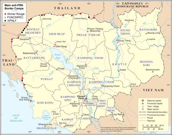 Map of the Last Khmer Rouge state