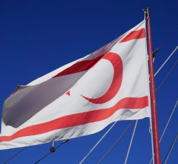 The flag of Northern Cyprus