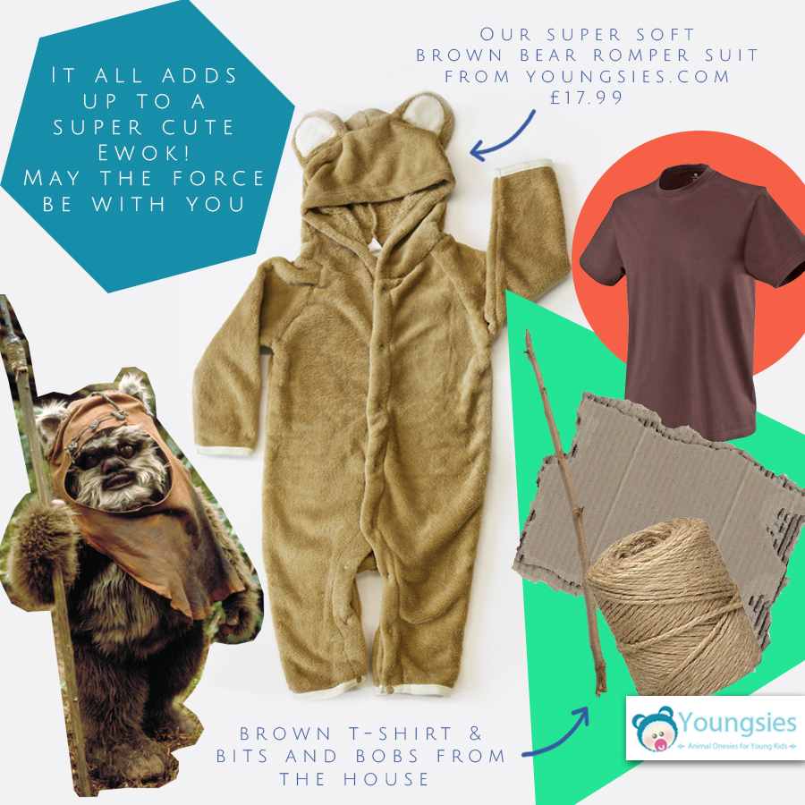 ffb3a125d Ewok halloween costume DIY - Youngsies