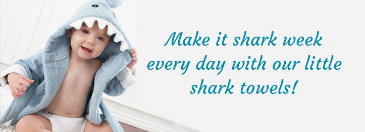 Shark Week Baby Towel