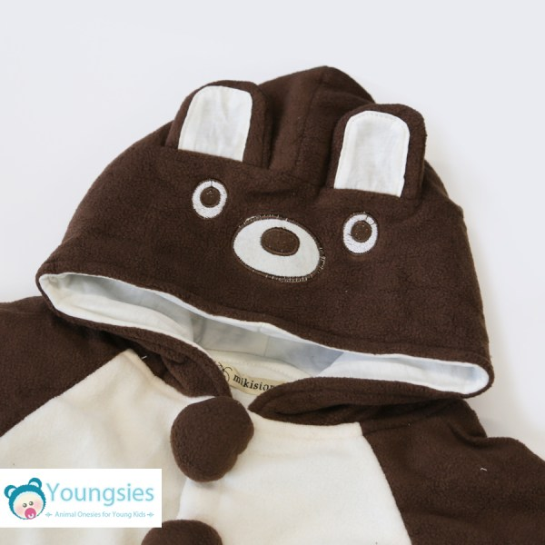 Brown bear romper suit for kids