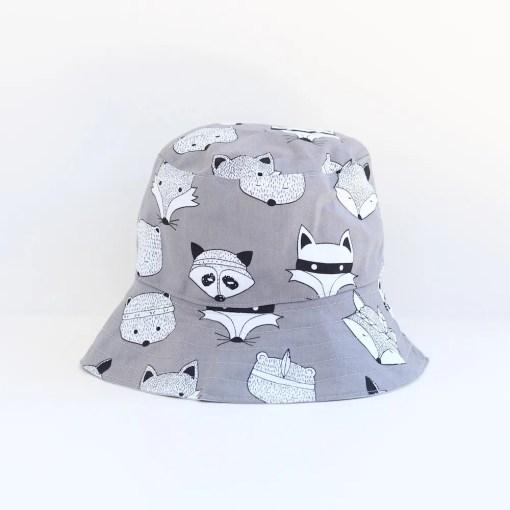 Kids Bucket Hat - Woodland Theme