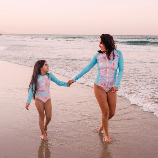 mum and daughter swimwear
