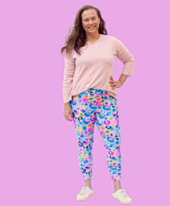 Leggings made from recycled lycra with optional bling