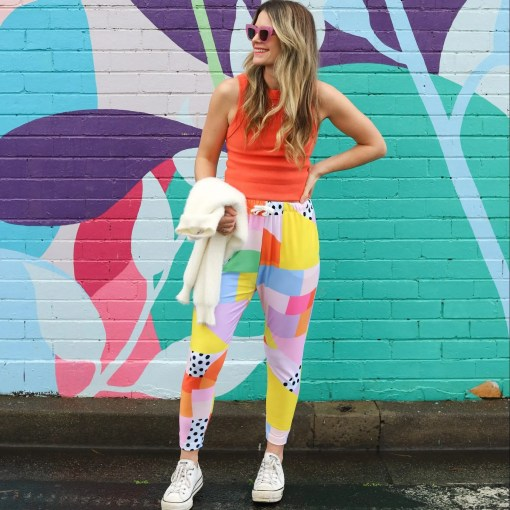 colourful jogger pants for women