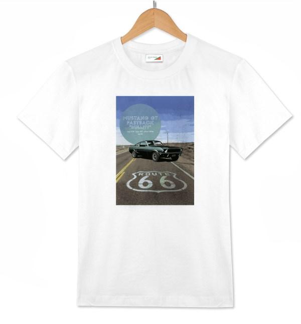 T-shirt Mustang bianca