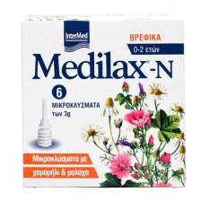 Intermed Medilax-N Βρεφικά Μικροκλύσματα 3gr 6τμχ