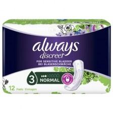 Always Discreet for Sensitive Bladder 3 Normal 12 Τμχ