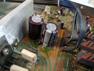 Secondary power supply capacitors