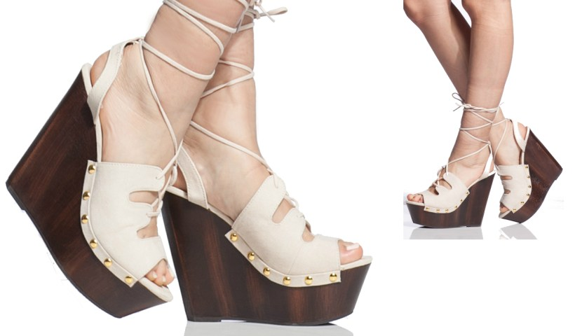 3bb977bb6 Faux Suede Wrap Around Clog Wedges