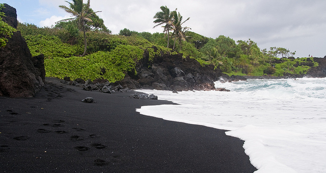 Image result for Black Sand Beaches Hawaii