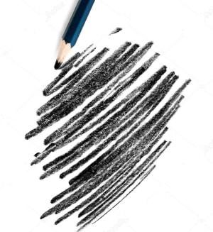 met een potlood tekenen