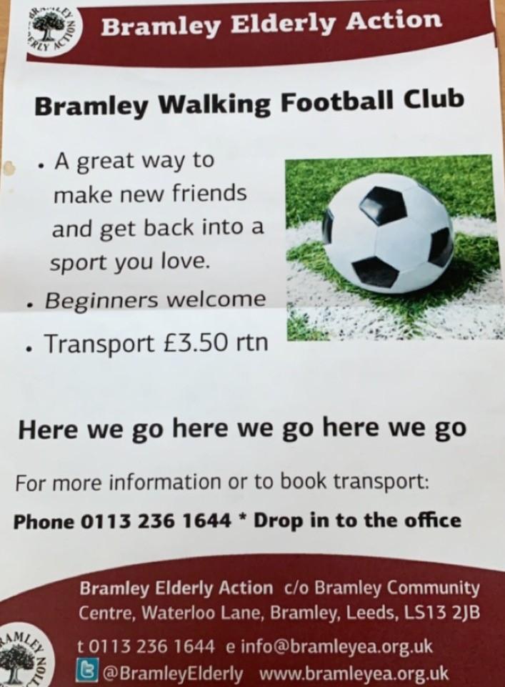 bramley walking football flyer 1