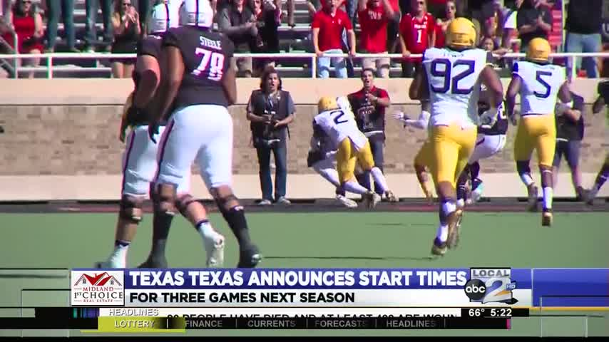 Tech Football Announces Three Game Times_04287285