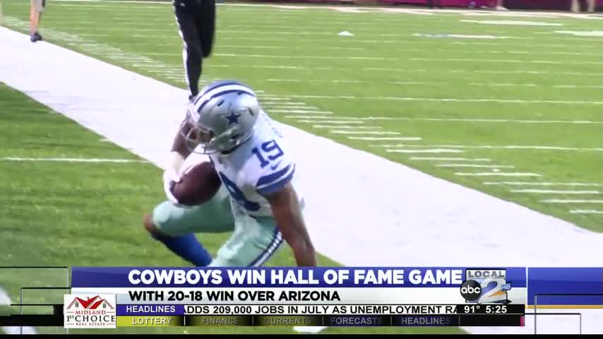 Cowboys win hall of fame game_79170085