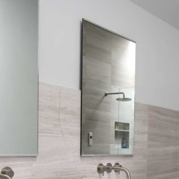Partially Framed Mirrors - Luxury Bathroom Products