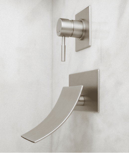 Reston Wall Mount Waterfall Tub Faucet Luxury Bathroom
