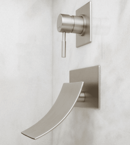 Bathroom Faucet From Wall reston wall mount waterfall tub faucet - luxury bathroom products