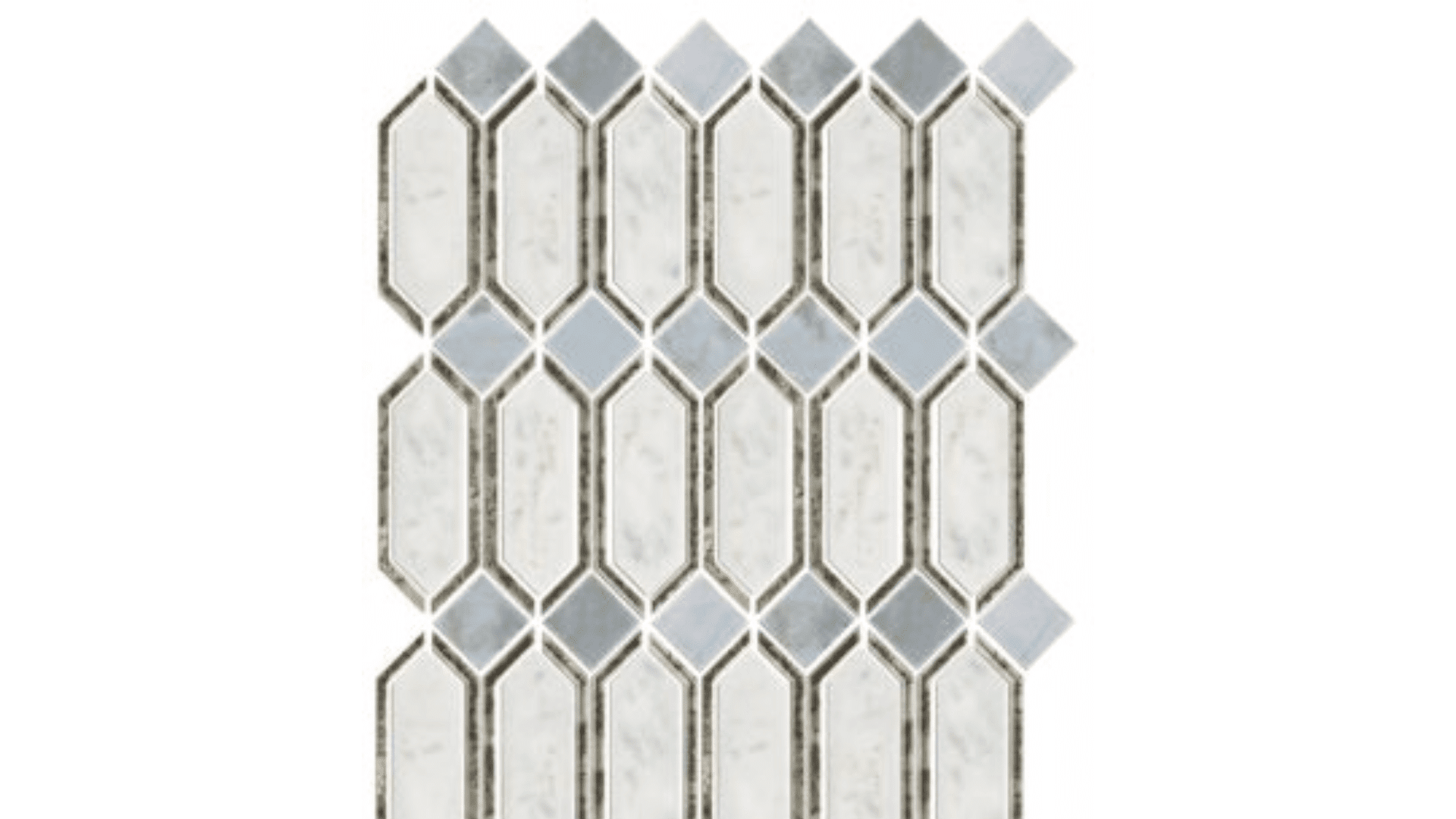 Northbrook WMirror Glass And Stone Wall Tile Luxury Bathroom Products