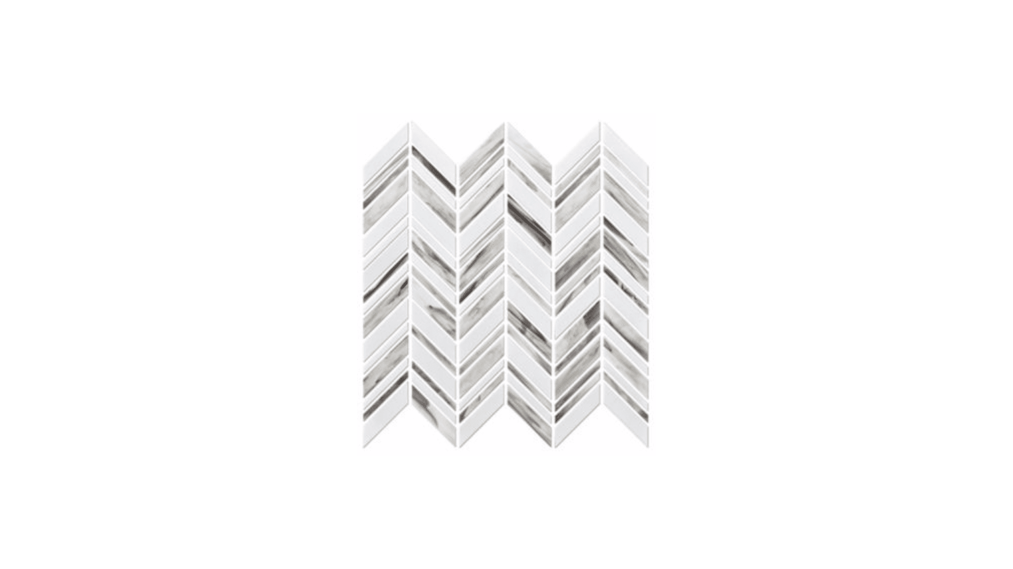 Alato Beachwalk Chevron Glass Mosaic Wall Tile Luxury