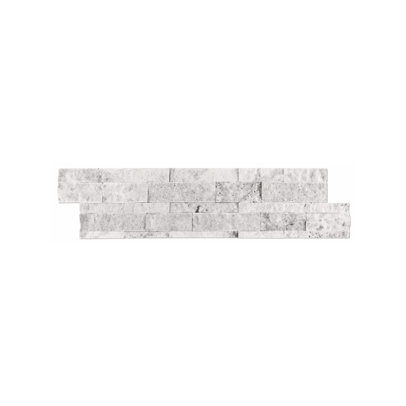 Claros Silver Architectural Travertine Wall Tile 6 X 24