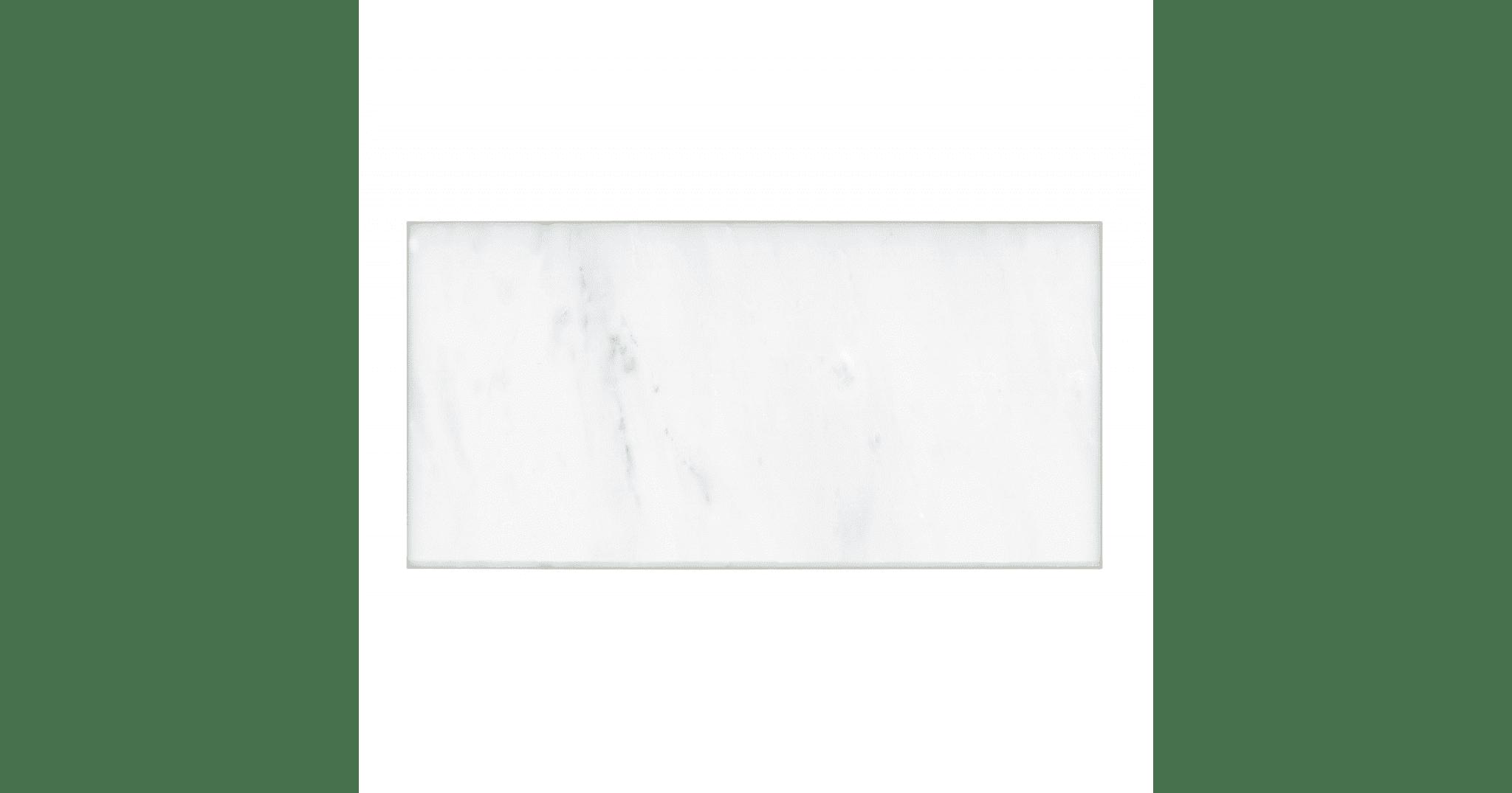 Hampton Carrara Polished Marble Subway Tile 3 X 6 In Luxury