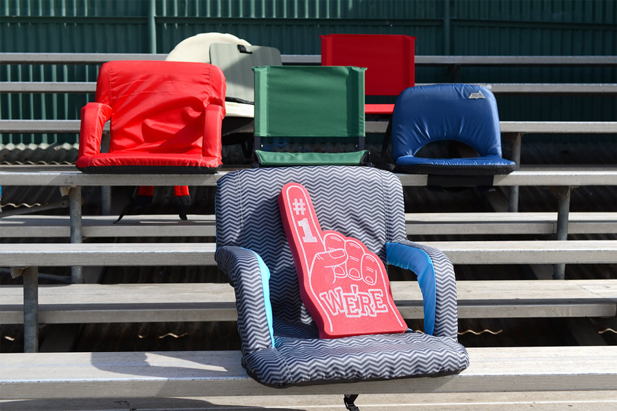 stadium chairs for bleachers with arms hammock chair stand white the best cushioned seats of 2019 your digs