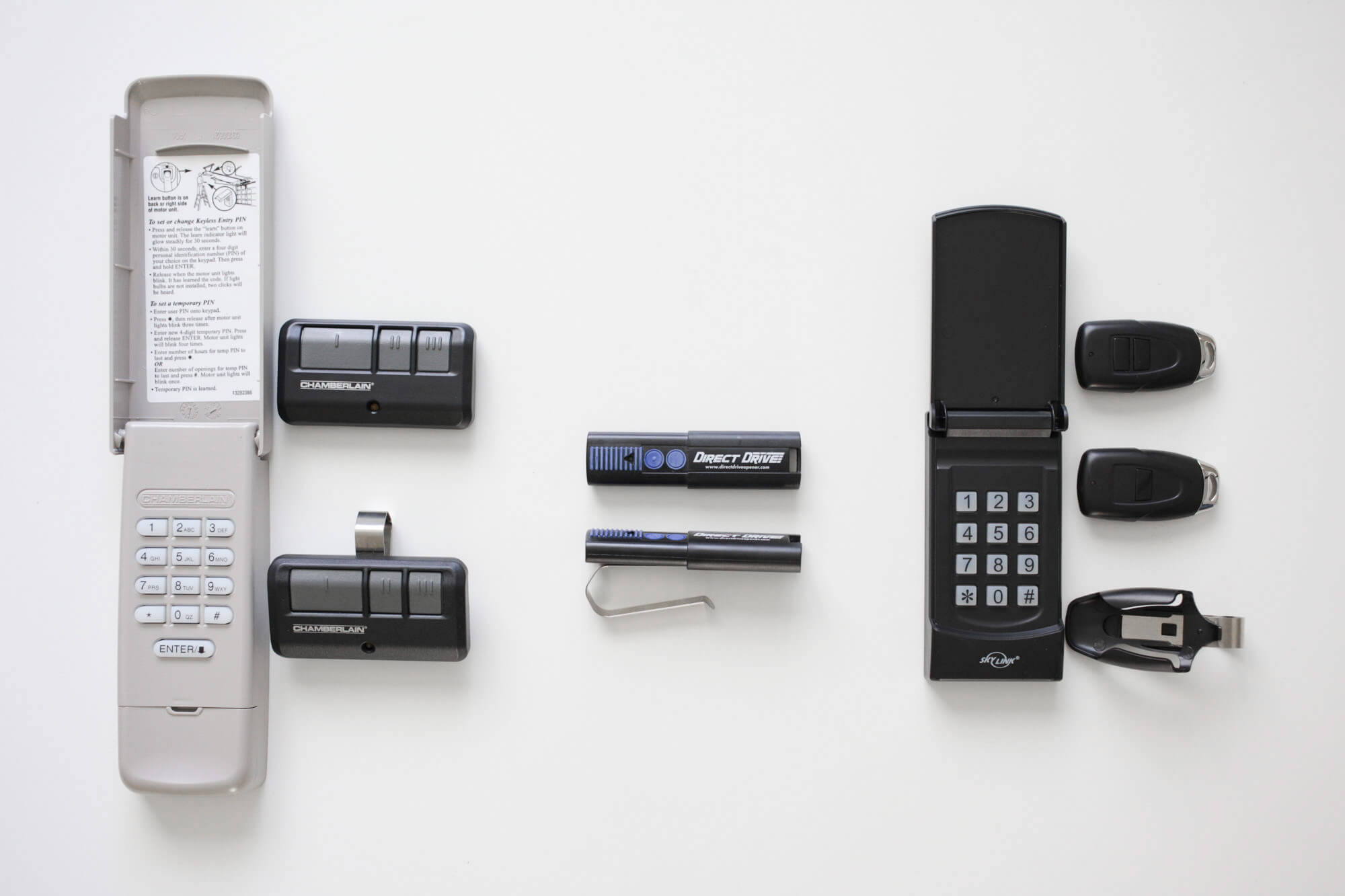 hight resolution of remotes and keypads