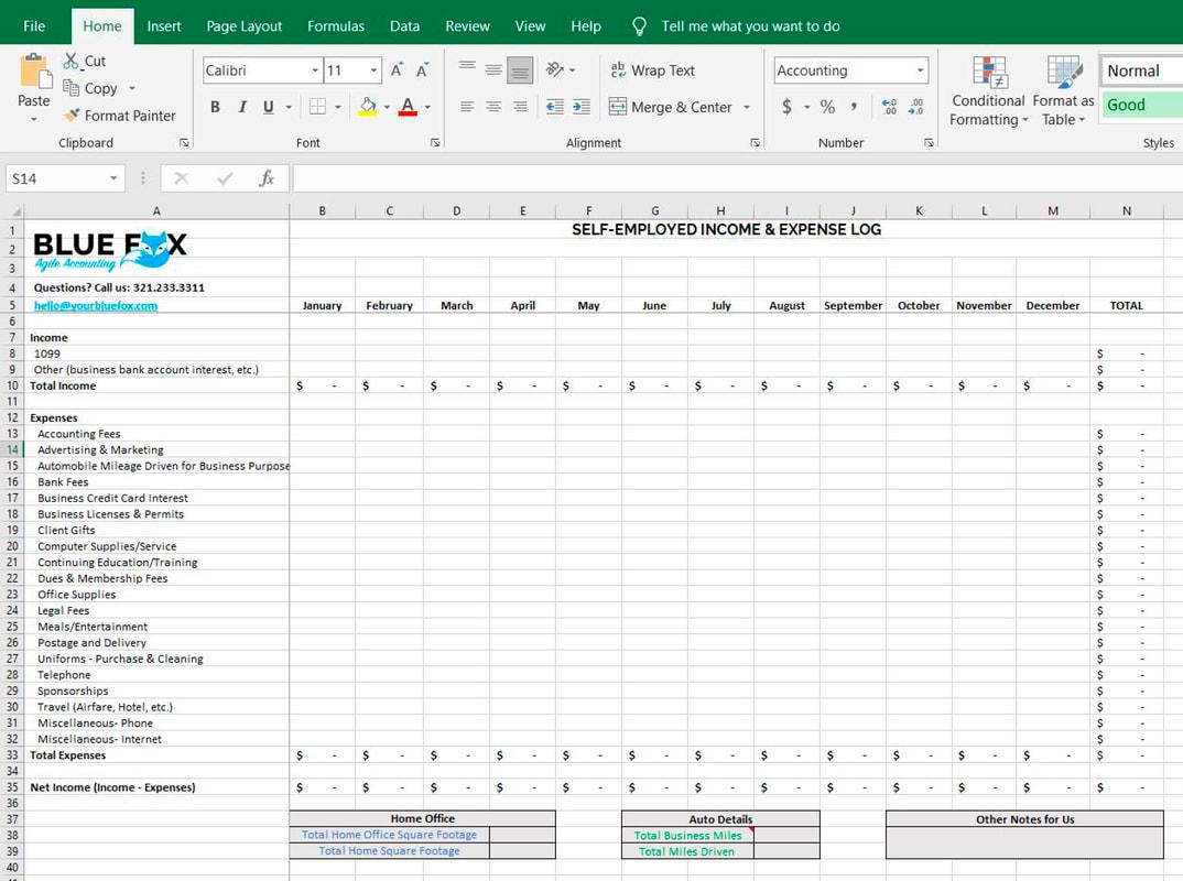 Free Download Schedule C Excel Worksheet For Self